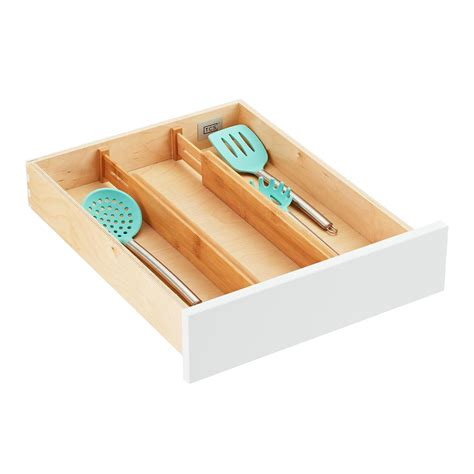 kitchen drawer dividers organizers bamboo drawer organizers the container 4717