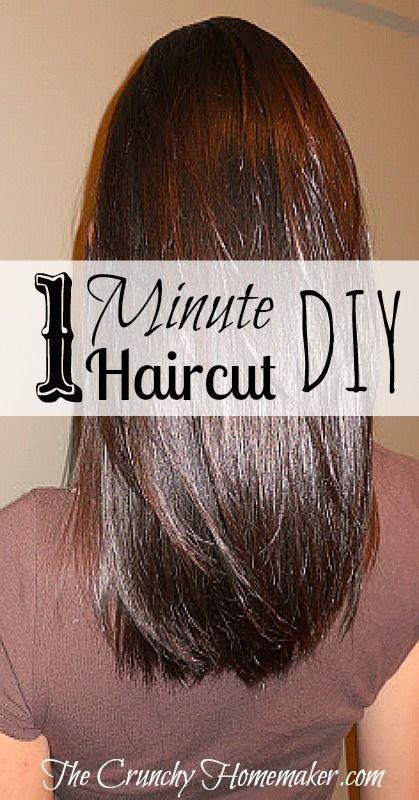 1 minute haircut diy layered hair cut the crunchy
