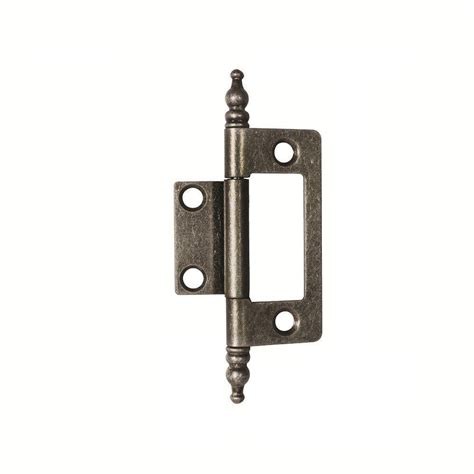self closing cabinet hinges home depot hickory hardware 3 8 in inset black iron self closing