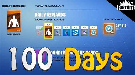 fortnite rewards    logging   days