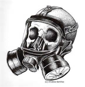 Gas Mask Skull Drawings
