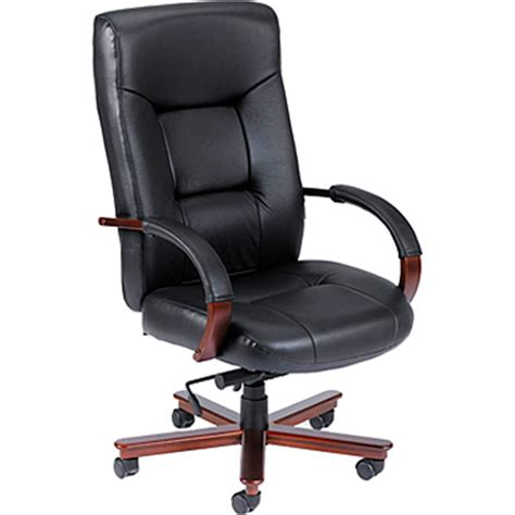 presidential seating black top grain leather computer