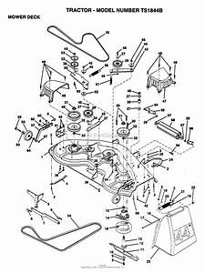 Ayp  Electrolux Ts1844b  1995  Parts Diagram For Mower Deck