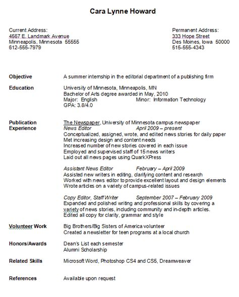 Chronological Resume Sle For College Student by Pin By Resumejob On Resume Sle Resume