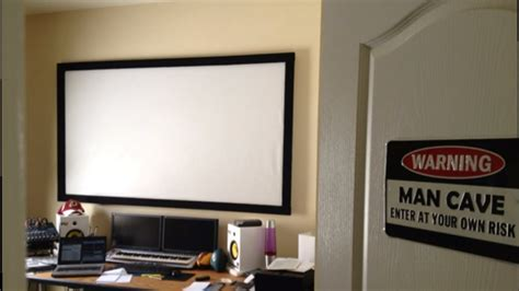 diy home theater projection screen youtube