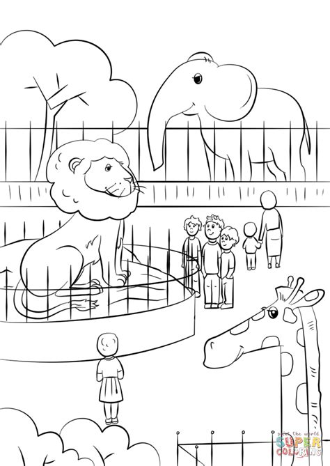zoo animals coloring page  printable coloring pages