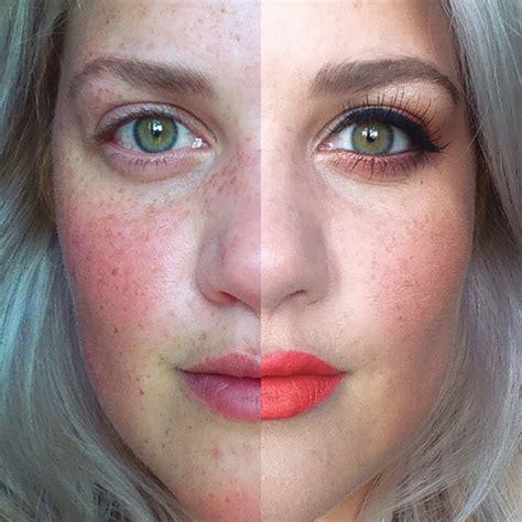 women post selfies     faces  fight makeup