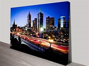 Melbourne by Night Canvas Print Australia