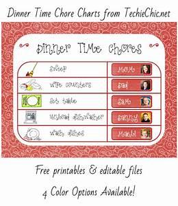 Chore Chart To Do Done Dinner Chore Chart Techiechic