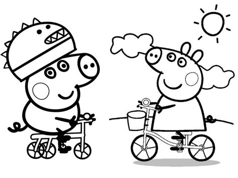 Awesome Peppa Pig George Coloring Pages Gallery Free