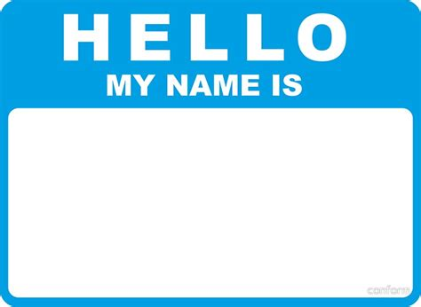 """""""hello My Name Is (blue)"""" Stickers By Conform Redbubble"""
