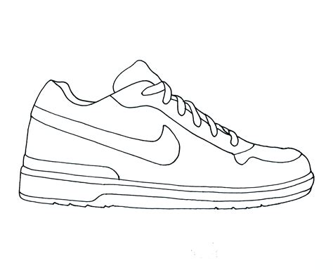 Drawn Shoe Pencil And In Color Drawn Shoe