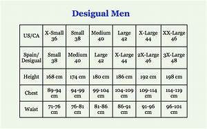 Mens Clothing Sizes Conversion From Uk To Spanish
