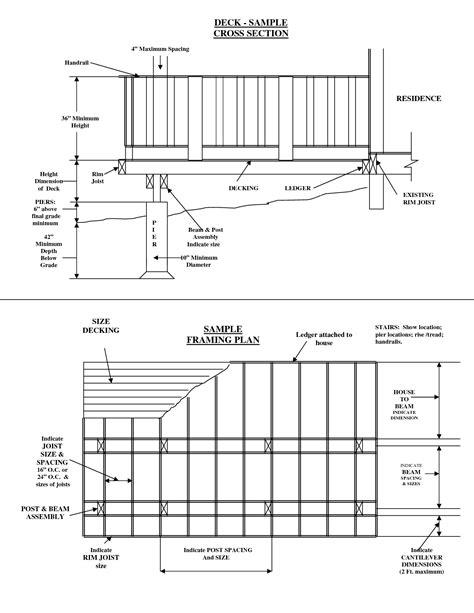size of deck deck joist blocking spacing deck design and ideas