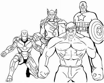 Superheroes Coloring Avengers Pages Printable Drawing