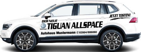 vw tiguan allspace vorführwagen fahrzeugbeschriftung f 252 r vw tiguan allspace