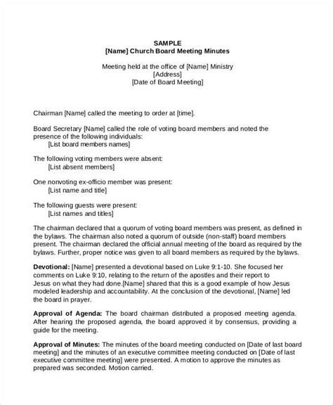 annual board of directors meeting minutes template 11 church meeting minutes templates free premium templates