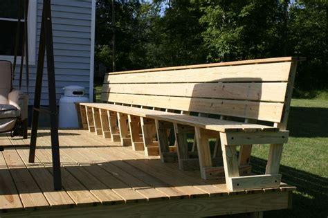 Deck Railing Bench Plans
