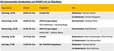 Live tv stream of sport 1 broadcasting from germany. SPORT1 fm startet heute wieder mit Fußball-Livestream ...