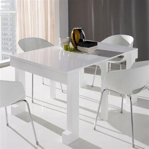 table console extensible laqu 233 e blanc mobilier