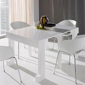 Table Extensible Blanc Laqué : table extensible blanc maison design ~ Teatrodelosmanantiales.com Idées de Décoration