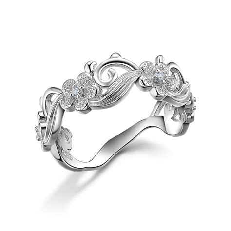 aliexpress buy newshe flower design solid 925 sterling silver vintage wedding ring jewelry