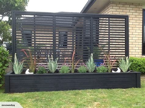 Outdoor Privacy Trellis by 3 Metre Planter With Trellis In Black Trade Me