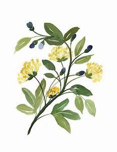 NEW ART PRINTS | 수채화, 꽃 및 꽃그림