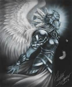 Valkyrie Female Warrior Tattoos