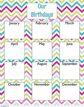 Birthday Chart Template For Classroom by Best 25 Classroom Birthday Board Ideas On