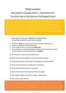 aqa gcse english language paper  model answers november  teaching resources