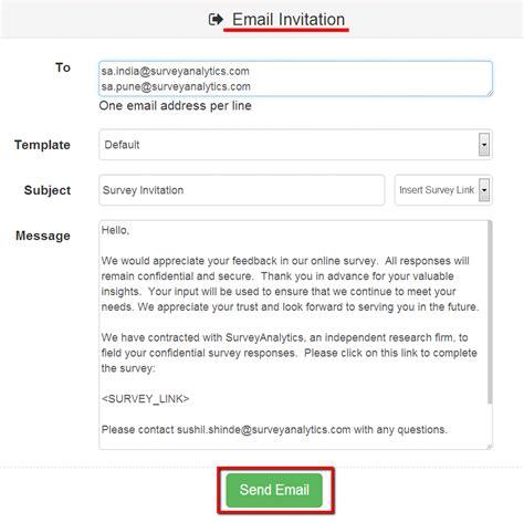 survey email template surveyanalytics features