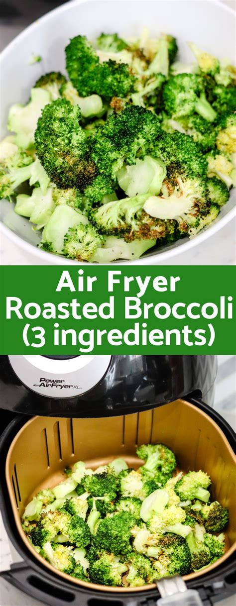 broccoli fryer air roasted calories easy low superhero dish calorie carb side crispy domestic long