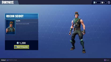 recon scout fortnite outfit skin    updates