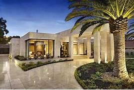 Luxury Modern American House Exterior Design Luxury Melbourne Home With Pillared Entry And Interior Courtyards 2