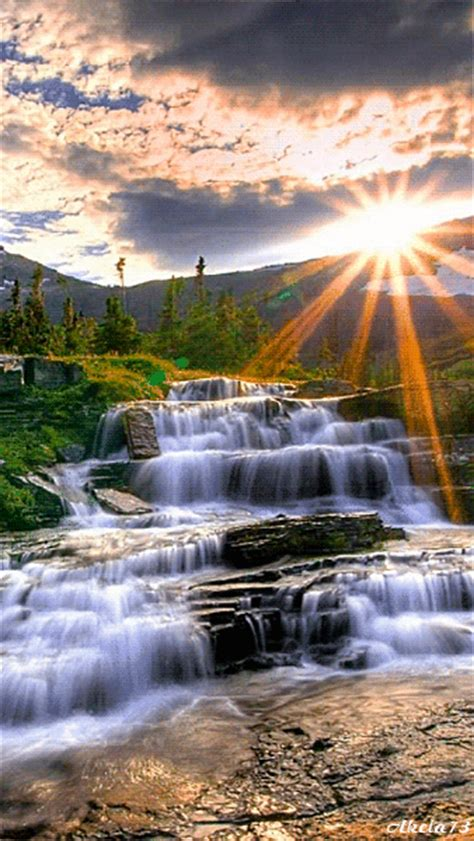 flowing waterfalls  waterfall clip art gif images