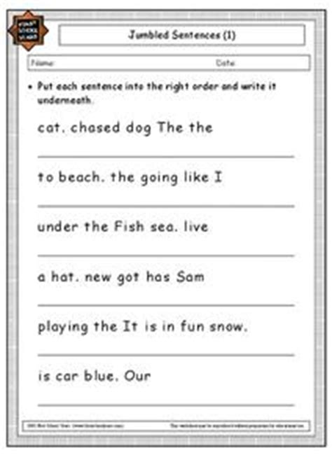 jumbled sentences lesson plans worksheets reviewed by
