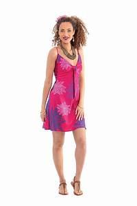 robe d ete courte rose ethnique et originale chantal With robe d été femme originale