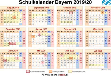 bayern sommerferien 2019 schulkalender 2019 2020 bayern f 252 r pdf