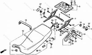 Honda Motorcycle 1989 Oem Parts Diagram For Seat