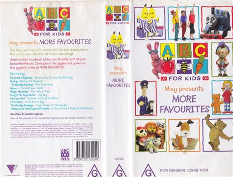 abc for mixy presents more favorites vhs