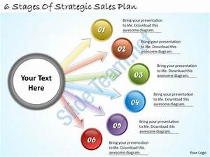 1113 Business Ppt Diagram 6 Stages Of Strategic Sales Plan