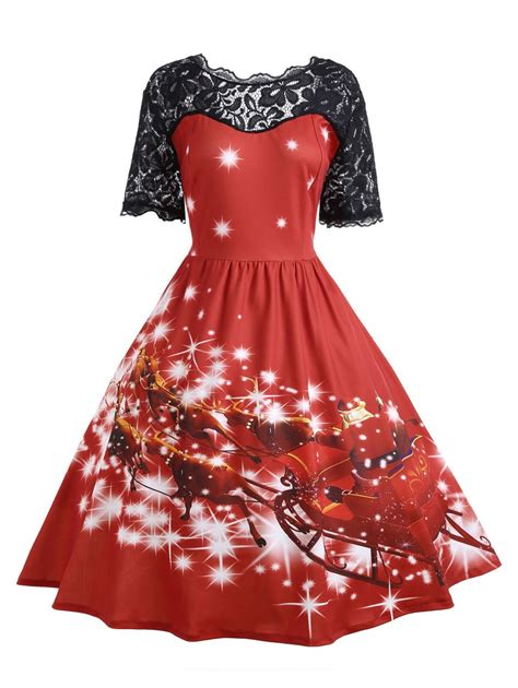 xmas party dress online canada 2xl plus size lace panel midi dress rosegal