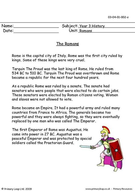 history worksheets year 3 the romans primaryleap co uk