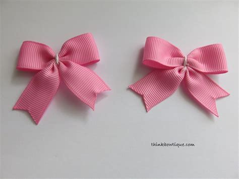 make a bow make a bow tie hair bow with tails think bowtique blog