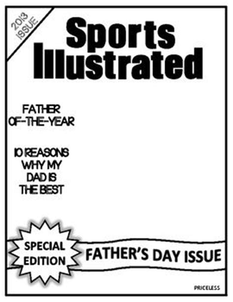 blank sport magazine cover template sports illustrated blank template pdf pictures to pin on