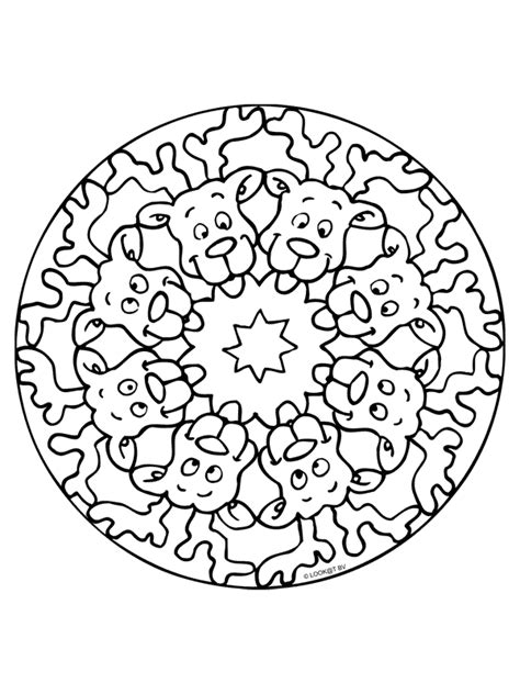 Kleurplaat Mandala Kerst by Kleurplaat Mandala Kerst Kleurplaten Nl