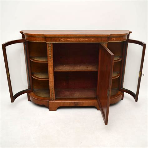 Walnut Credenza - antique inlaid walnut credenza marylebone