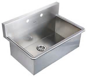 whitehaus whnc3120 31 quot noah stainless steel laundry utility sink modern kitchen sinks by