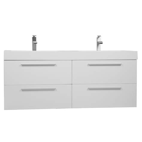 buy   modern double sink vanity set  drawers gloss white tn  hgw conceptbathscom